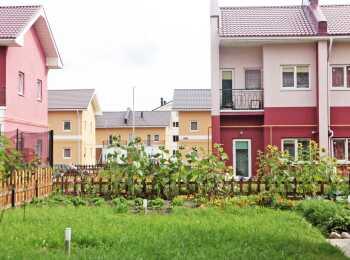 Вид на малоэтажные корпуса ЖК Покровские горки в перспективе